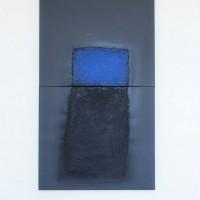 Erwin Bechtold, oben XXV-6, 2005, Acryl auf Leinwand, zweiteilig, 188 x 106 cm