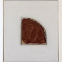 Erwin Bechtold, Bild 82-55 Zum Thema Winkelrand, 1982, Bleistift und Acryl auf Leinwand, 64 x 56 cm