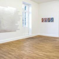"Ausstellungsansicht ""Papier/Paper IV – COLLAGEN"", Albert Weis (l.), Martin Pfeifle (r.)"