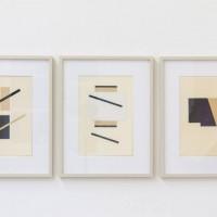 """Ausstellungsansicht """"Papier/Paper IV – COLLAGEN"""", Frank Badur"""