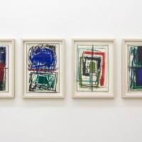 """Ausstellungsansicht """"Papier/Paper IV – COLLAGEN"""", Günter Tuzina"""