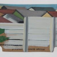 Tim Trantenroth, Gated com.africa, 2011, Öl auf Karton, ca. 16 x 36 cm