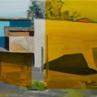 Tim Trantenroth, Shacks idyll, 2011, Öl auf Nessel, 35 x 65 cm