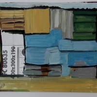 Tim Trantenroth, Shacks 300x190, 2011, Öl auf Karton, ca. 35 cm x 45 cm
