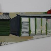 Tim Trantenroth, Shacks tomato, 2011, Öl auf Karton, 24 x 38 cm