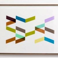 Ausstellungsansicht, Unikatserie enka (03/09), 2012, Folie, Papier, 49 x 69 cm